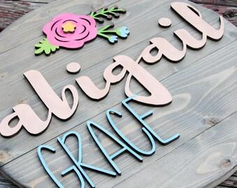 Wood Sign | Nursery Decor | Circle Wood Sign | Personalized Wood Sign | Circular wood cutout | Custom Made