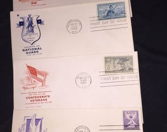 1950's First Day Issue National Guard, NATO and More