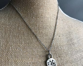 """Hand Stamped Necklace """"be you"""" - Personalized Disc Necklace - Circle Necklace -Hand Stamped Necklace-Personalized  Gift- Statement Necklace"""