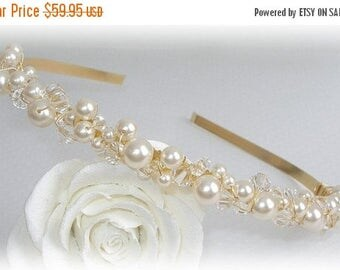 ON SALE 20% OFF Heavenly Single Band Tiara in Gold