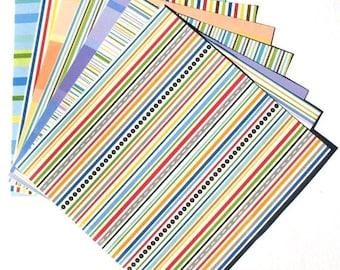 50% OFF - Candy Stripe - 6x6 Doodlebug Design Paper Pack