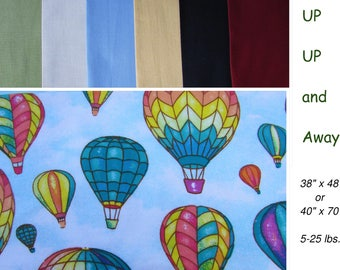 Child Weighted Blanket, Adult, Hot Air Balloon Weighted Blanket, 2 sizes, Teen, Sensory, ADD, ADHD flannel, 5 -25 lbs, 38 x 48, 40 x 70