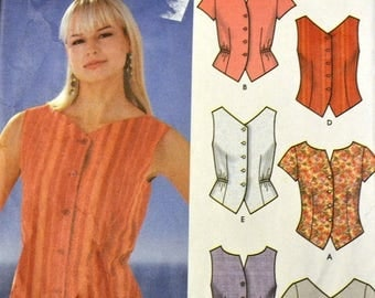 Christmas in July Sewing Pattern Simplicity 555 Misses' Tops size 8-14, bust 30-36 inches
