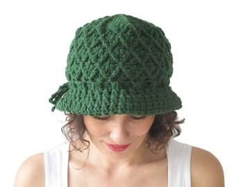 20% WINTER SALE NEW! Green Pretty Woman Hat