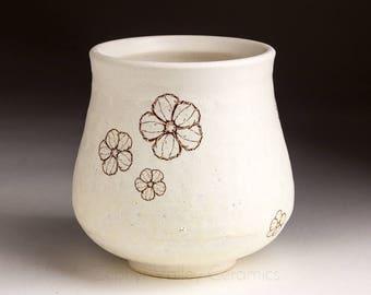 Tea Bowl - Yunomi - Ceramic Wine Cup - Stoneware Tumbler - Juice Cup - Pottery Glass - Handleless Mug - White Clay Cup