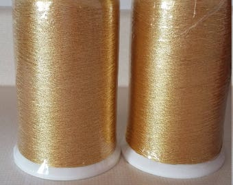 MADERIA EMBROIDERY THREAD Gold Metallic