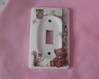 Ceramic Light Switch Cover, Whimsical Animal Print Light Switch Cover
