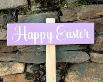 Happy Easter Garden Sign Easter Decor Easter  Yard Sign