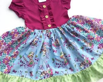 Tinkerbell Disney princess dress birthday party Peter Pan toddler girl Disney world clothing