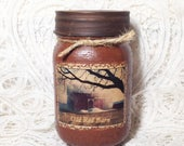 Grungy Jar Candle - Old Red Barn - pint