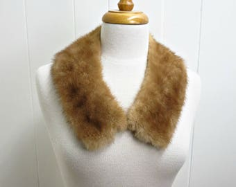 Vintage Mink - Mink Collar - Brown Mink Collar - Retro Mink Collar - Vintage Fur Collar -Vintage Fur Stole - Fur Wrap - Fur Scarf - Retro