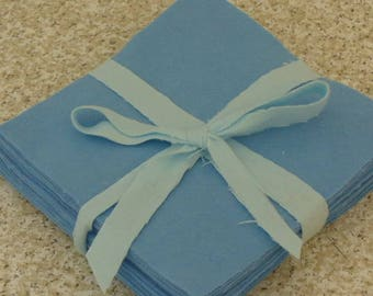 Solid POWDER BLUE, FLANNEL Fabric Squares,  Rag Quilt, Traditional Quilting, pick size & quantity, We Cut You Sew