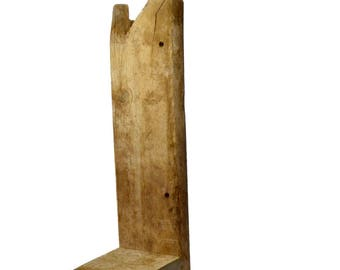 "Rustic Shelf barnwood 27"" tall,6"" wide, shelf is 6.5""x6"""
