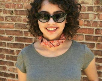 Choker Necklace - Hipster Clothing - Fabric Choker - Necktie Necklace - Eco Friendly Jewelry - Orange Paisley Isabella Choker. 14