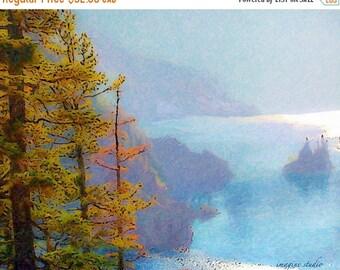 HUGE SUMMER SALE 40% off Nature, Modern Landscape, Springtime, Fine Art Print, Giclee Archival Print, Photomontage, Collage, Painted Photogr