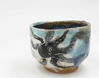 octopus tea bowl