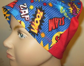 Kid's  Chemo Hat, Zoom Print  Kid'sCancer Cap, Alopecia, Sleep Cap Free Ship USA
