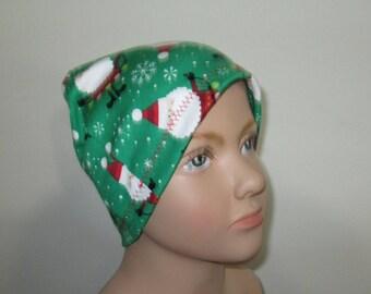 Kids Stretch Knit Santa Claus  Children Size  Hat -Chemo, Cancer, Alopecia,Sleep Cap