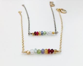 Delicate Chakra Gemstone Bracelet