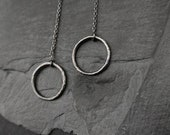 Minimalist and Dainty Sterling Silver Thread Earrings- Organic Design - Gift for her - Needle charm earrimgs