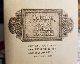 1920s COTY Face POWDER & PUFF Refill