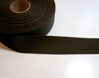 Vintage Green Petersham Grosgrain Ribbon 1 1/2 inches wide x 6 yards, Rayon Cotton Blend, Dark Loden Green Ribbon