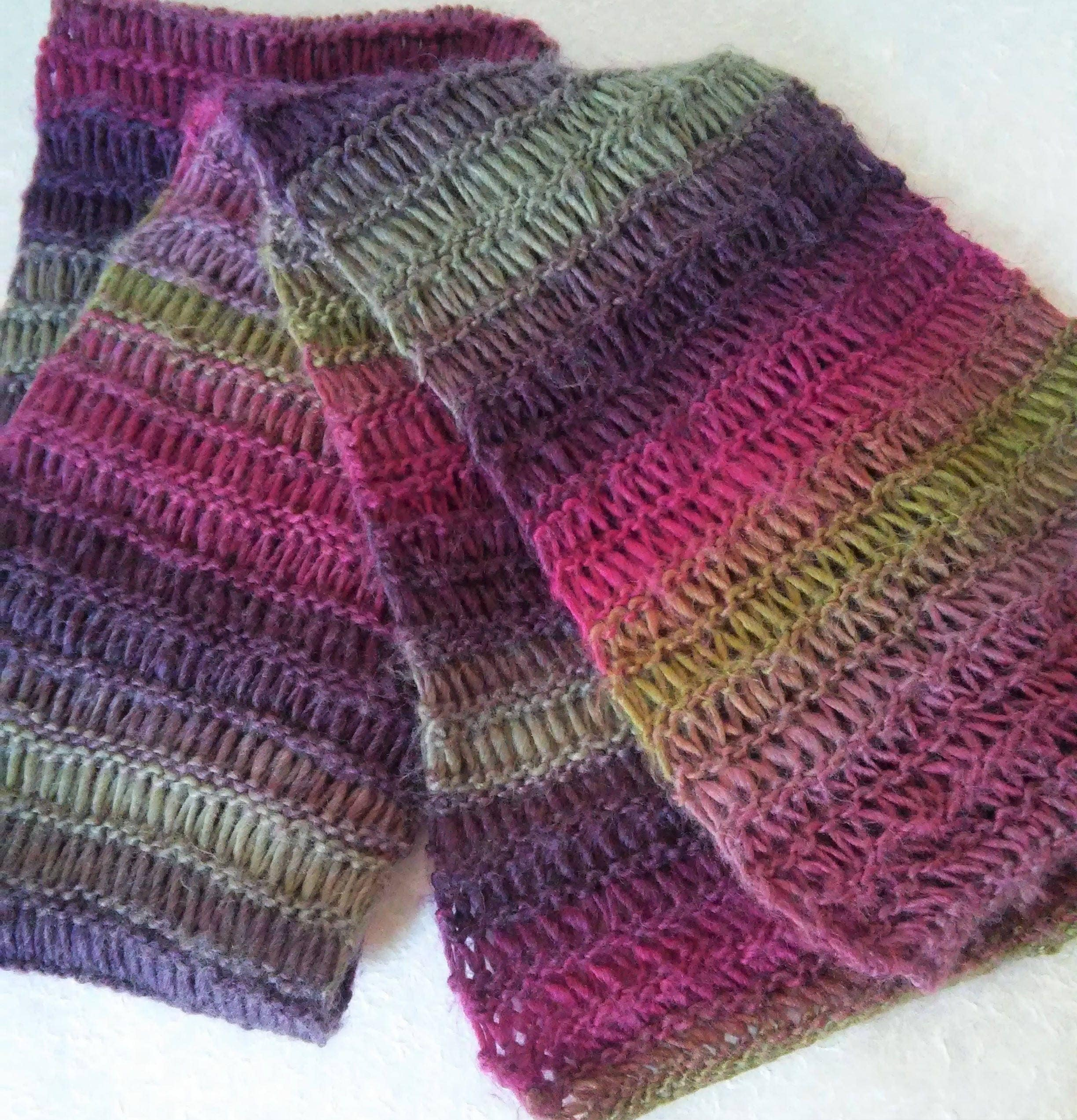 Murrisk scarf knitting pattern mans long loose openweave zoom bankloansurffo Images