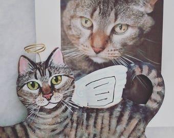 Custom Cat Tree Topper ~ Custom Cat Topper ~ Cat Tree Topper ~ Cat Memorial ~ Custom Cat Angel ~ Christmas Tree Topper ~ Christmas Decor
