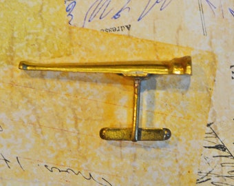 Vintage Brass Spyglass Telescope Cufflink
