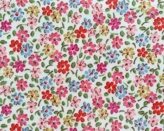 4423 - Cath Kidston Small Flower (Offwhite) Oilcloth Waterproof Fabric - 28 Inch (Width) x 17 Inch (Length)