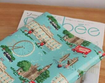 2698 - Cath Kidston London (Aqua Blue) Oilcloth Waterproof Fabric - 28 Inch (Width) x 17 Inch (Length)