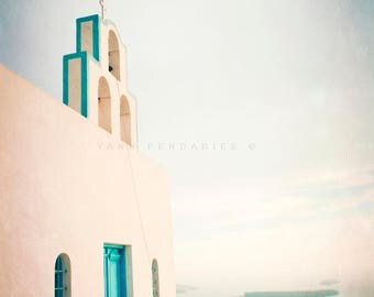 The greek church, Ocean photography, sea theme decor, ocean print, ocean decor, beach wall decor, sea decor, nautical decor,ocean wall decor