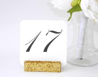 Gold Table Number Holder + Gold Wedding Glitter Table Number Holder (Set of 10) ON SALE