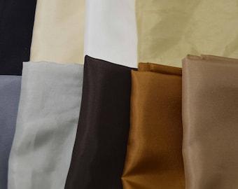 """China Silk HABOTAI Fabric Set - 9 Neutrals 9""""x22"""" Each"""