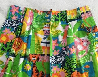 60u0027s Vintage Retro Jungle Kids Curtains   Set Of Two