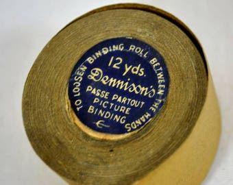 Dennison's Passe Partout Picture Binding - Partial Roll of Gold Textured Paper for Craft Purposes