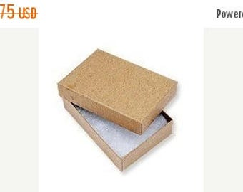 Summer Sale 20 Pack Kraft 3.25X2.25X1 Inch Sized Cotton Filled Jewelry Presentation Boxes