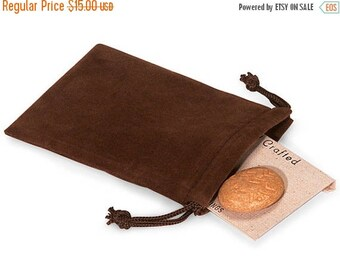 New Years Sale 50 Pack Chocolate Brown Velvet Drawstring Bags great for Weddings, Party favors, Jewelry, Etc