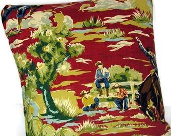 Western Throw Pillow Cover Cowboy Throw Pillow Western Decorative Pillow Western Pillow Cases Home Dec Western Pillow Cover Cowboy Pillows