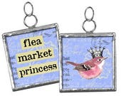 Flea Market Princess Charm or Pendant