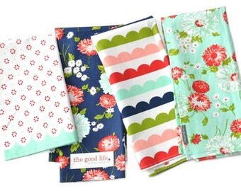 The Good Life Tea Towel Set by Bonnie and Camille for Moda Fabrics