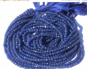 Sale 45% off 14 Inches Super Finest AAA Blue Quartz Micro Faceted Rondelles Sapphire Blue Color Size 3.5 - 4mm Approx get 25 Percent discoun