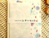 Kawaii Japanese Letter Set - Washi Paper - Golden Fish