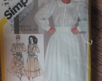 Simplicity Full Skirt and Blouse Pattern Size 12