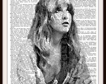 Stevie Nicks- Fleetwood Mac - Vintage Dictionary Art Print--Fits 8x10 Mat or Frame