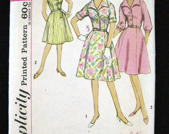 1960s Simplicity pattern 4478 womens one piece dress size 18 and half bust 39 printed pattern