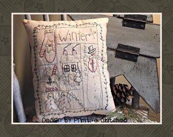 Winter Sampler-Primitive Stitchery  E-PATTERN by Primitive Stitches-Instant Download
