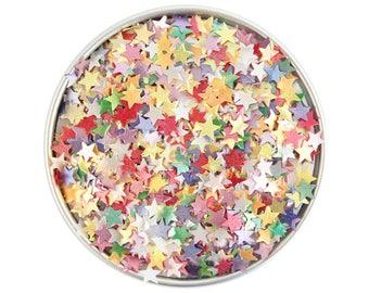 Rainbow Star Edible Glitter - metallic rainbow star glitter sprinkles, edible rainbow glitter stars, rainbow star sprinkles
