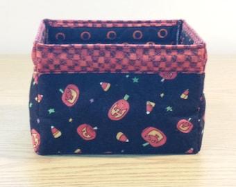 Quilted Fabric Box (HBX04) Jack O Lanterns