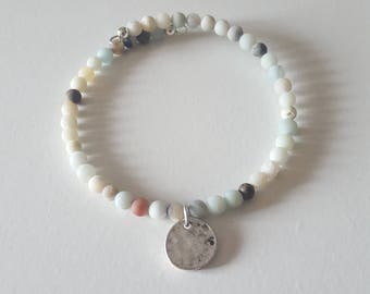 amazonite bracelet, boho jewelry, beaded bracelets, minimalist jewelry, bangle|, yoga jewelery for her, stackable bracelets, gift mom